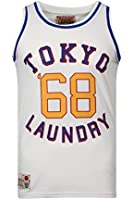 Mens Vest Tokyo Laundry Mesh Top Muscle Gym Crew Neck Casual Running Summer New