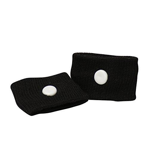 [Akupressur] Armband gegen Übelkeit • zwei Stück | inklusive praktischer Box | schwarz | waschbar und wiederverwendbar
