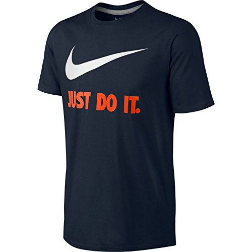 NIKE Herren T-shirt New JDI Swoosh Multicolore (Dark Multicolore (Obsidian/Bianco))