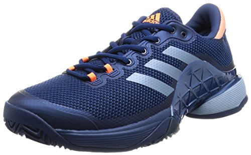 adidas Men's Barricade 2017 Tennis Shoes, (Mystery Tactile Blue/Glow Orange), 6.5 UK 40 EU