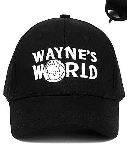Uteruik Wayne's World Hut Trucker Bestickt Kostüm Baseballmütze Kappe verstellbar schwarz für Damen, Herren, Kinder & Jugendliche