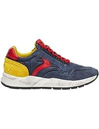 VOILE BLANCHE Sneaker Running Suede Tessuto Nylon Blu Rosso Giallo Uomo  US19VB02 e5e31b2e214