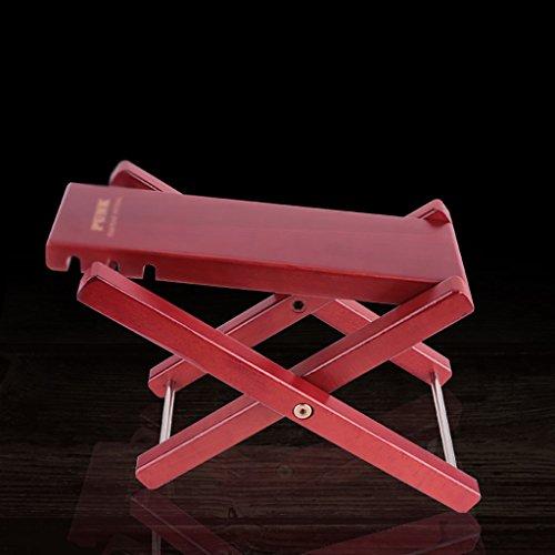 Imagen de reposapiés para  3 altura ajustable / 4 pedal de  de altura ajustable pedal de  de madera sólida clásica rojo / color de madera pedal de   color  mahogany color[3]