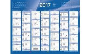 Quo Vadis - 1 Calendrier de banque bleu - Année 2018- 135 x 180 mm