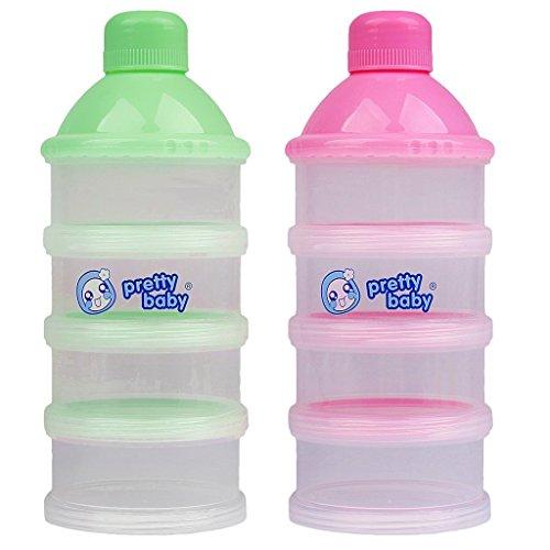 Nopea Tragbare Baby Säugling Milchpulver Behälter Flasche Baby Milch Verteiler Container Baby Milchpulver Spender 4 Zellen Gitterbox - Säuglings-baby-formel