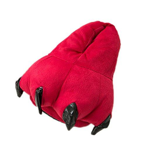 LATH.PIN - Pantofole o zampe di animale per costume, idea regalo Rot