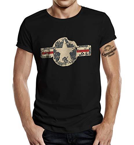 T-Shirt für den US-Army Fan: Used Look Black