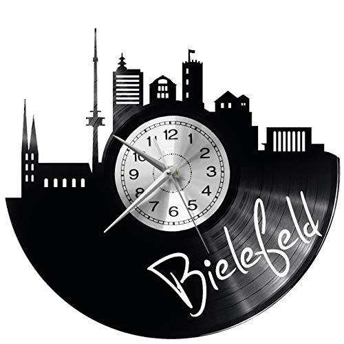 WoD Bielefeld Wanduhr Vinyl Schallplatte Retro-Uhr groß Uhren Style Raum Home Dekorationen Tolles Geschenk Uhr