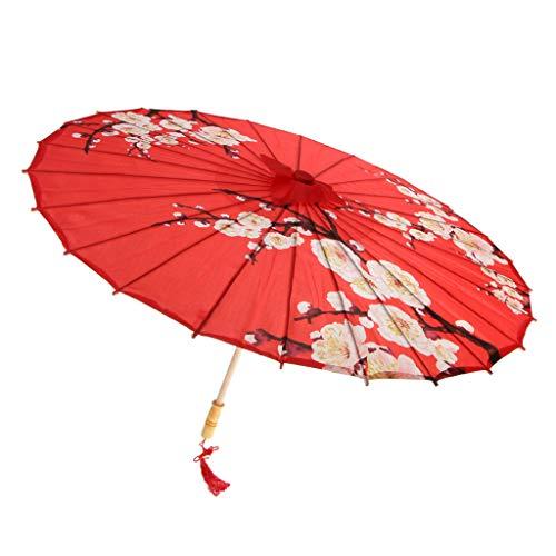 D DOLITY Retro Papierschirm Regenschirm Sonnenschirm Tanz Schirm Deko Schirm, Klassischer Chinesischer Muster - 19