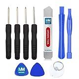 MMOBIEL Kit Attrezzi di Riparazione 10 in 1 per Smartphones etc, Incluso di Ventosa, Staffa Spugder Metallico per Vari cellulari