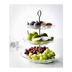 ikea 365 pr sentoir g teaux 3 niveaux en acier inoxydable verre cuisine maison. Black Bedroom Furniture Sets. Home Design Ideas