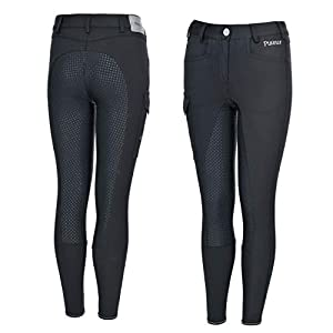 Pikeur Sammy Grip Dark Shadow Kinder Reithose mit Strass VB FS 2019
