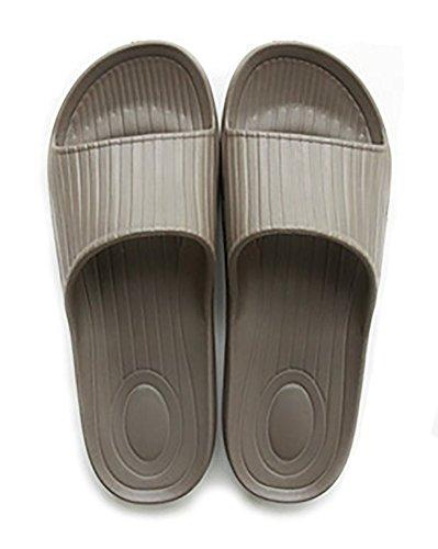 à enfiler Chaussons Antidérapant Douche Sandales Maison Mule doux mousse Semelle Chaussures de piscine de salle de bain Glissière pour adulte café