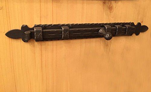 Antikas - Flachriegel Gartentor, grosser Schubriegel altes Tor, Schiebe-Verschluss Eisen