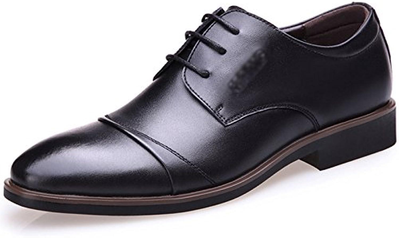 Fruumlhling und Herbst Mens Shoes Arbeit Formelle Kleidung Schnuumlrschuhe Spitz Flach mit Fuumlr Männer Niedrige Hilfe