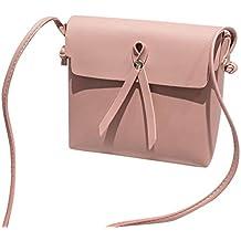 Bolso, Manadlian Bolsos De Hombro De Piel Baratos Bolso Bandolera Pequeña Para Mujer (19cm(L)*6cm(W)*17cm(H), Rosa)
