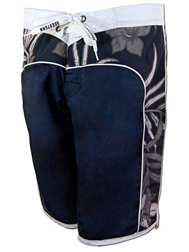 SEESTERN Damen Boardshorts Surfshorts Boardshort Surf Short Bade Shorts XS-XXXL Blau L