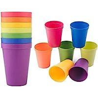 LHKJ Arc en Ciel Tasses pour Enfants, Plastique, Neo Verres Plastique 8 pièces