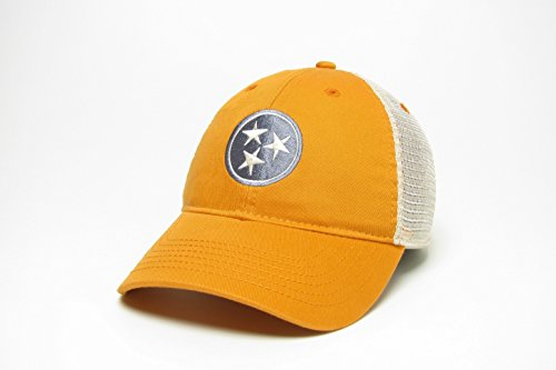 Tennessee Stern Trucker Stil hat/Cap - Orange mit Grau Star-flex Fit Cap