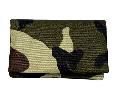Plan B Tabakbeutel TWODAYS Militär (11,5 x 7,5 cm) mit Eva-Gummi Tasche Bis mit zu 15 Gramm Tabak Grün 7.5 Gummi