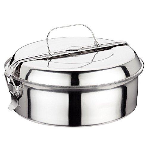 Ilsa 5041 - Acciaio Lunch Box, 14 cm, argento