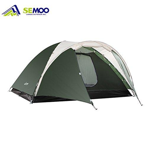 Semoo Tente 3 saisons pour camping ou pour voyage, sac léger et facile à transporter, double couche, 3-4 personnes. Pour aller de camping ou randonnée