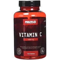 Prozis Vitamin C 1000mg - Ascorbinsäure-Ergänzungsmittel für Immunsystem und Körper - 120 Portionen