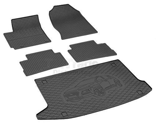 Passende Gummimatten und Kofferraumwanne Set geeignet für Hyundai Kona ab 2017ein Satz