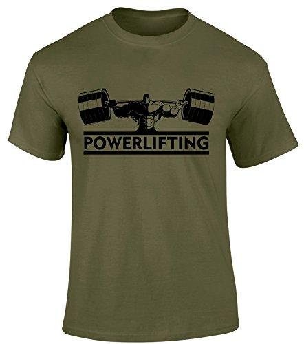 SuperPraise - Camiseta - Cuello redondo - para hombre multicolor verde (Military Green) X-Large