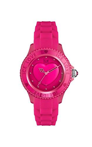 Ice-Watch - ICE love 2010 Pink - Rosa Damenuhr mit Silikonarmband - 013726 (Small)