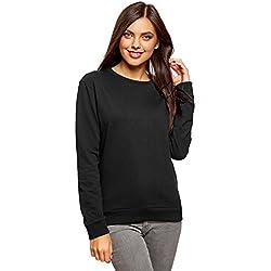 oodji Ultra Mujer Suéter de Algodón (Pack de 3), Negro, ES 40 / M