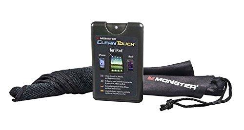 Monster CleanTouch Reinigungslösung mit Tuch und Beutel für Apple iPhone, iPad, iPod & andere Touchscreen-Geräte schwarz -
