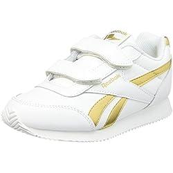 Reebok Royal Cljog 2 Zapatillas, Niñas, Blanca Oro, 34