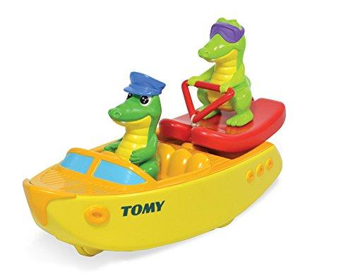 TOMY E72358 - Barca con coccodrilli Che Fanno Sci Nautico