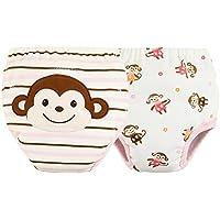 [Las niñas] bebé pantalones del entrenamiento del tocador del pañal de la ropa interior del pañal del paño 15.4-26.4Lbs