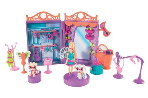 Mattel - Polly Pocket P1923-0 - Funkelnde Tierfreunde - Maskenball Set