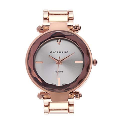 Giordano Analog Silver Dial Women's Watch-C2193-44