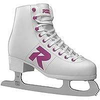 Roces Damen Model R pattini da ghiaccio, Donna, MODEL R, white-Magenta, 39