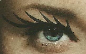 Stargazer Sexy Eye Tätowierung Verzierung Transferdruck Goth Emo Punk Kostüm Schwarz - schwarzen Eyeliner (Goth Emo Kostüme)