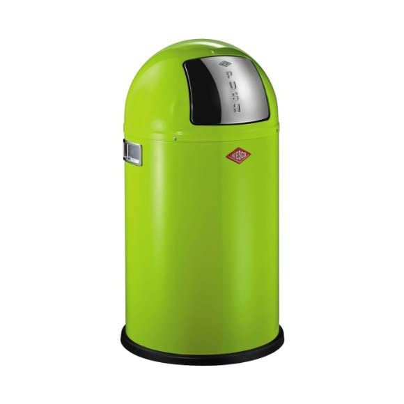 Wesco Pushboy Junior Lime Green Kitchen Bin - 22 Litre