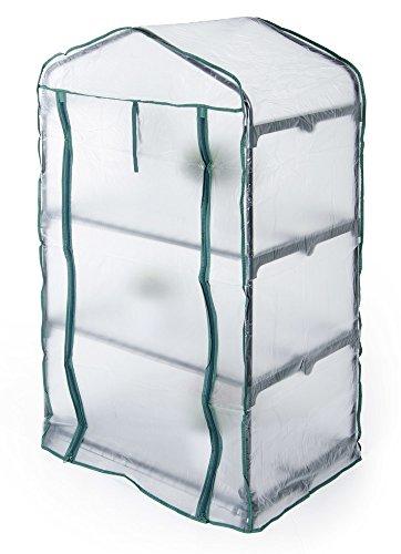 VERDELOOK Telo di ricambio in PVC trasparente per serra 3 ripiani 647/1