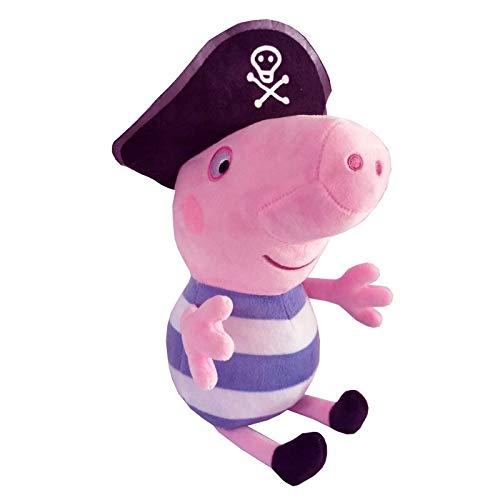 wangwang Juguete de Peluche George Pig Pirate Pig 30cm Felpa Animal Ropa de Cama Sleep Almohada Funda Funda cumpleaños Almohadilla Juguete para los niños