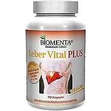 BIOMENTA LEBER VITAL PLUS | mit MARIENDISTEL, CHOLIN, LÖWENZAHNWURZEL, WERMUT, KURKUMA, ARTISCHOCKEN | Leber Vitamine: 90 St. LEBER KAPSELN VEGAN