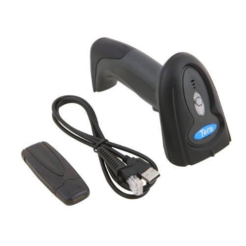 Tera® 2,4G Kabellos Funk Handscanner Hand Barcodescanner Barcode Scanner mit USB Stick