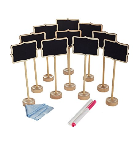 officematter-mini-lavagnette-con-il-cavalletto-per-lasciare-i-messaggi-rettangolo-set-da-10