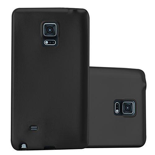 Cadorabo Hülle für Samsung Galaxy Note Edge - Hülle in METALLIC SCHWARZ – Handyhülle aus TPU Silikon im Matt Metallic Design - Silikonhülle Schutzhülle Ultra Slim Soft Back Cover Case Bumper