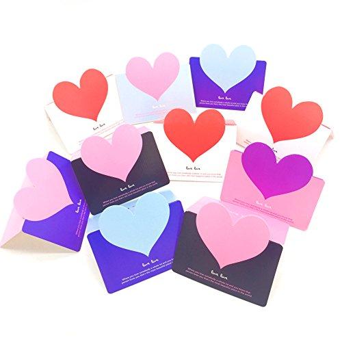 beauty360tech en blanco tarjetas de felicitación para cumpleaños tarjetas amor forma de corazón diseño paquete de 10