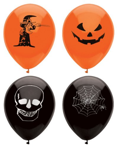 Henbrandt 15 Assorted Halloween Balloons / 23cm / Halloween Trick Or Treat Scary Party Fun by
