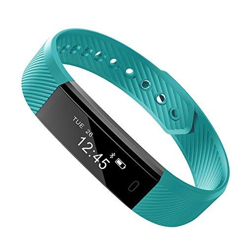 VIMOER Smart-Armband Bluetooth Schrittzähler Armband Schlafmonitor Gesundheit Fitness Tracker Smart Watch (mit Herzfrequenzmesser), grün, 240 x 16 x 10 mm