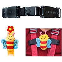 Escape Me Not Car Seat Anti Escape Harness Chest Clip No Threading Required Helps Prevent Children Taking Their Arms Out of The Straps - Bee Design